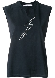 Givenchy lightning print sleeveless top