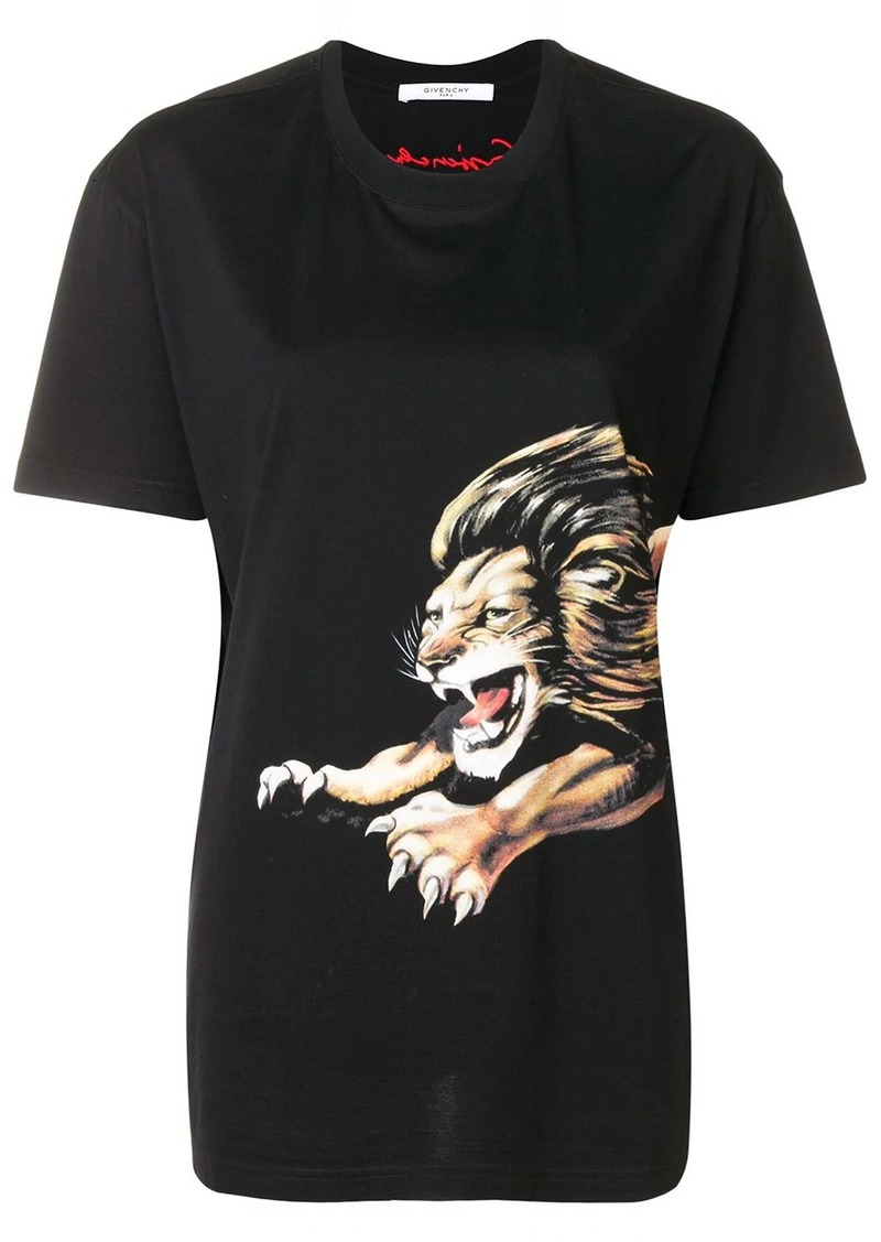 Givenchy Lion print T-shirt