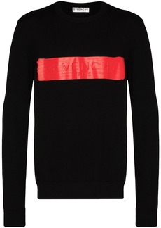 Givenchy logo-band crew-neck jumper
