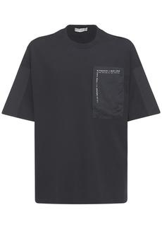 Givenchy Logo Cotton T-shirt W/ Nylon Pocket