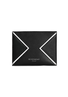 Givenchy Logo Credit Leather Card Holder