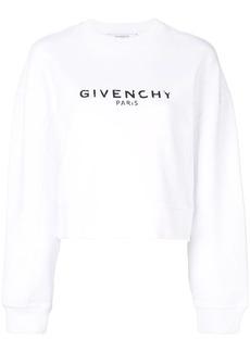 Givenchy logo cropped sweatshirt