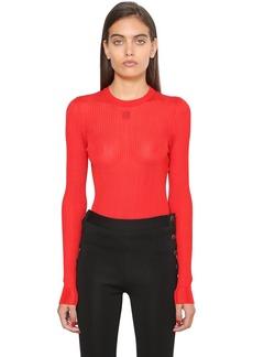 Givenchy Logo Detail Viscose Knit Top