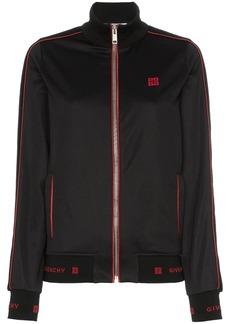 Givenchy logo embroidered track jacket