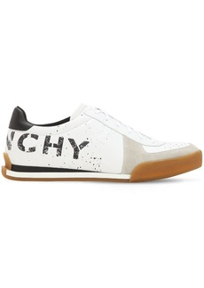 Givenchy Logo Leather Tennis Sneakers