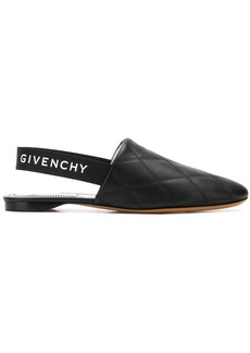 Givenchy logo matelassé mules