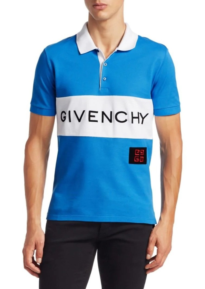 2e500b69 SALE! Givenchy Logo Pique Polo Shirt
