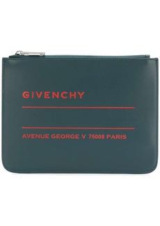 Givenchy logo print clutch