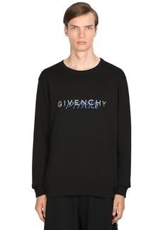 Givenchy Logo Print Cotton Jersey Sweatshirt