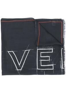 Givenchy logo-print fringed scarf