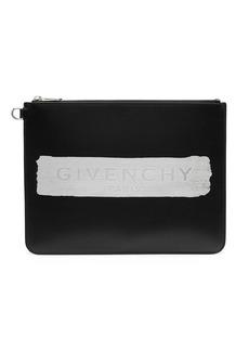Givenchy logo-print clutch bag