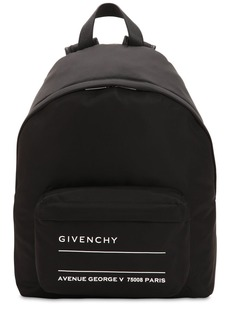 Givenchy Logo Print Nylon Backpack