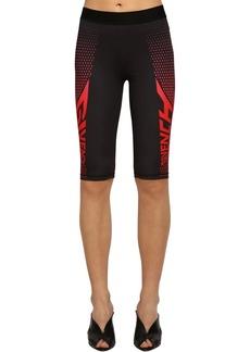 Givenchy Logo Print Tech Jersey Cycling Shorts