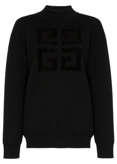Givenchy logo print wool blend sweater