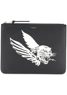 Givenchy logo print zipped pouch
