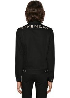Givenchy Logo Printed Cotton Denim Jacket