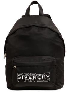 Givenchy Logo Printed Nylon Backpack