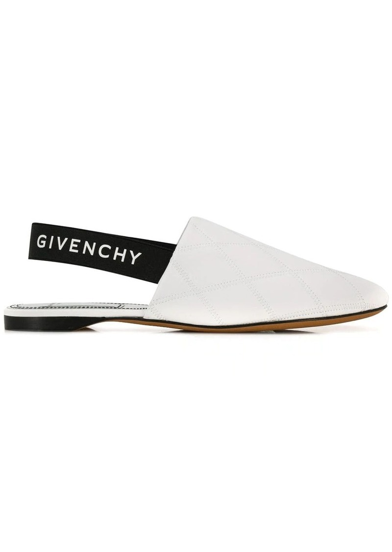 Givenchy logo slingback mules