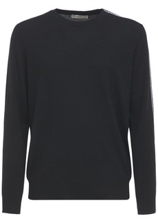 Givenchy Logo Tape Knit Wool Sweater