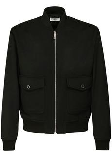 Givenchy Logo Tape Wool Blend Bomber Jacket