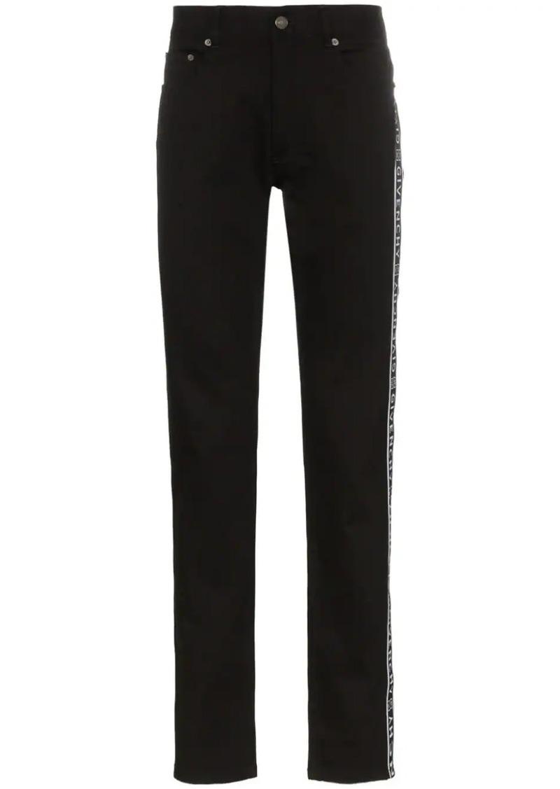 Givenchy Logo ticker cotton-blend jeans