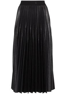 Givenchy logo waistband pleated midi skirt
