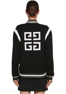 Givenchy Logo Wool Knit Bomber Jacket