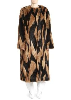 Givenchy Long Oversized Faux Fur Coat