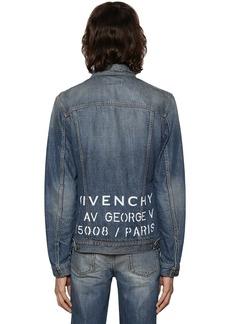 Givenchy Medium Vintage Logo Address Denim Jacket