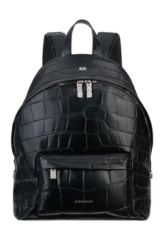 Men's Givenchy Double Lock Leather Backpack - Black