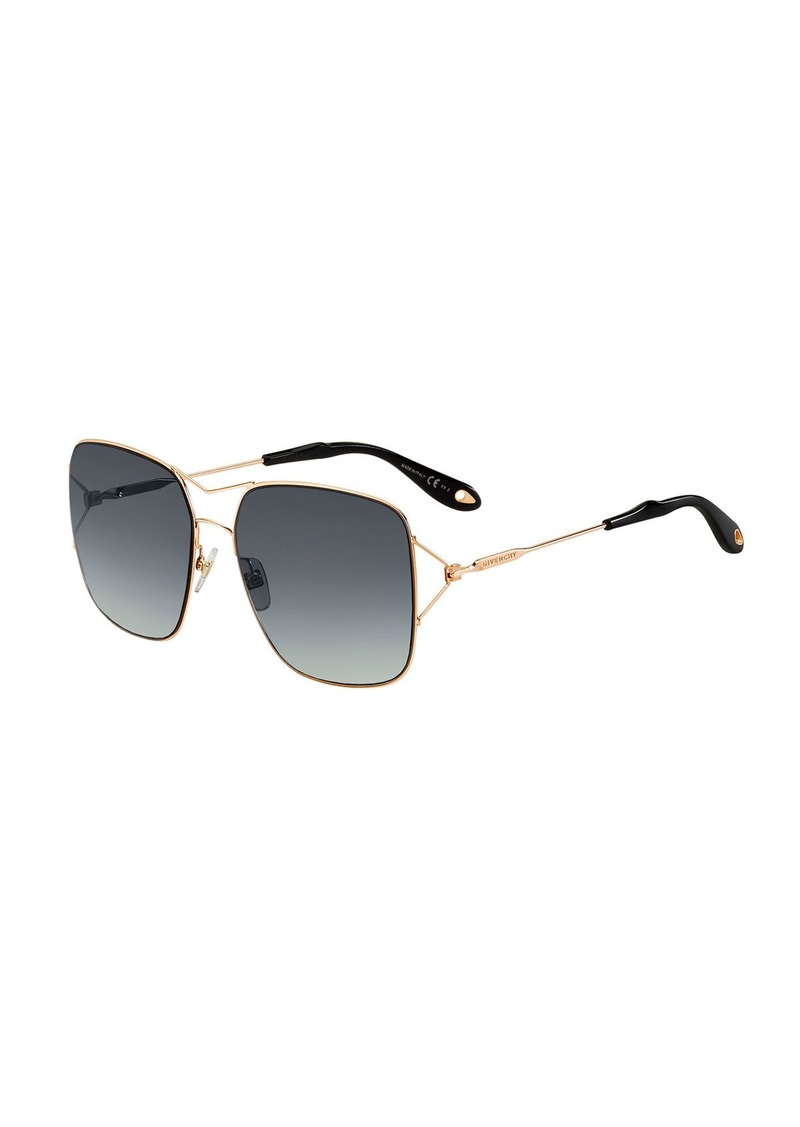 828a3e61d37fc Givenchy Metal Double-Wire Square Sunglasses