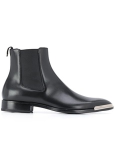 Givenchy metal logo plate chelsea boots