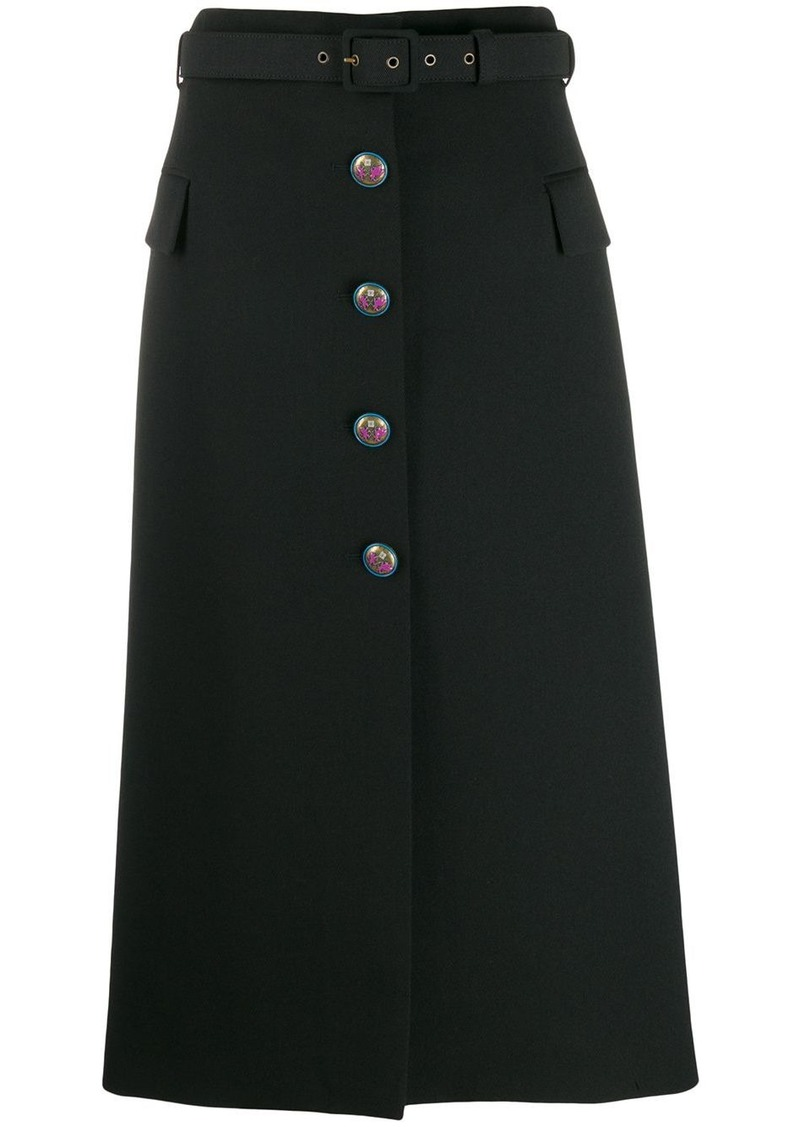 Givenchy mid-length skirt with blazon buttons