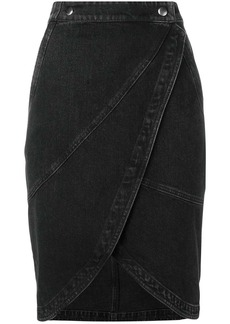 Givenchy midi denim skirt