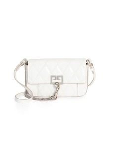 Givenchy Mini Quilted GV3 Leather Crossbody Bag