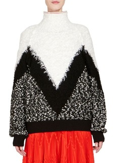 Givenchy Mohair & Wool Chevron Oversize Sweater