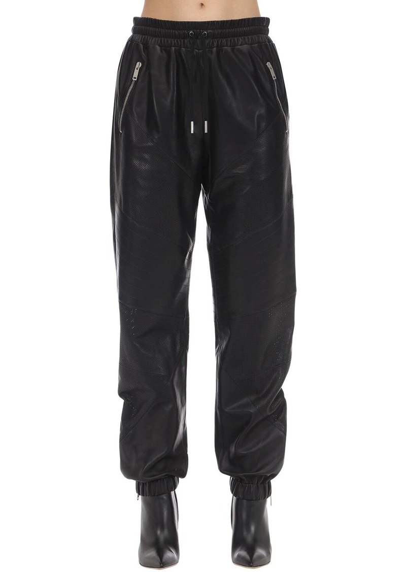 Givenchy Nappa Leather Drilled Jogging Pants