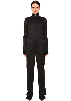Givenchy Neoprene Jumpsuit W/ Logo Bands