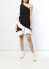 Givenchy one shoulder ruffle dress