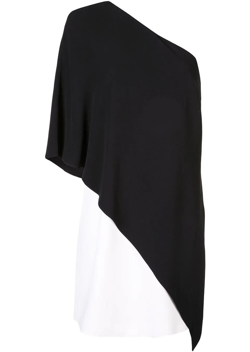 Givenchy one shoulder shift dress