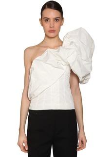 Givenchy One Shoulder Taffeta Top