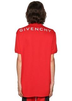 Givenchy Oversize Reflective Logo Cotton Polo