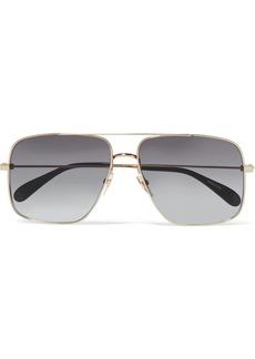 Givenchy Oversized Aviator-style Gold-tone Sunglasses