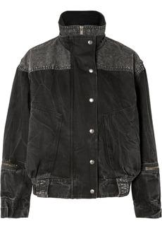 Givenchy Oversized Crinkled-denim Jacket
