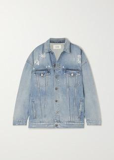 Givenchy Oversized Distressed Denim Jacket