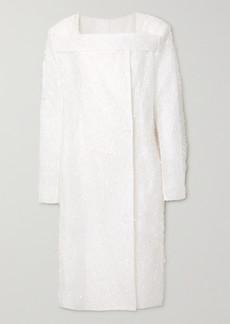 Givenchy Oversized Fringed Silk-blend Organza Coat