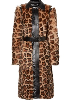 Givenchy Oversized Glossed Leather-trimmed Leopard-print Shearling Coat