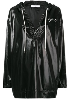 Givenchy oversized high-shine hooded top