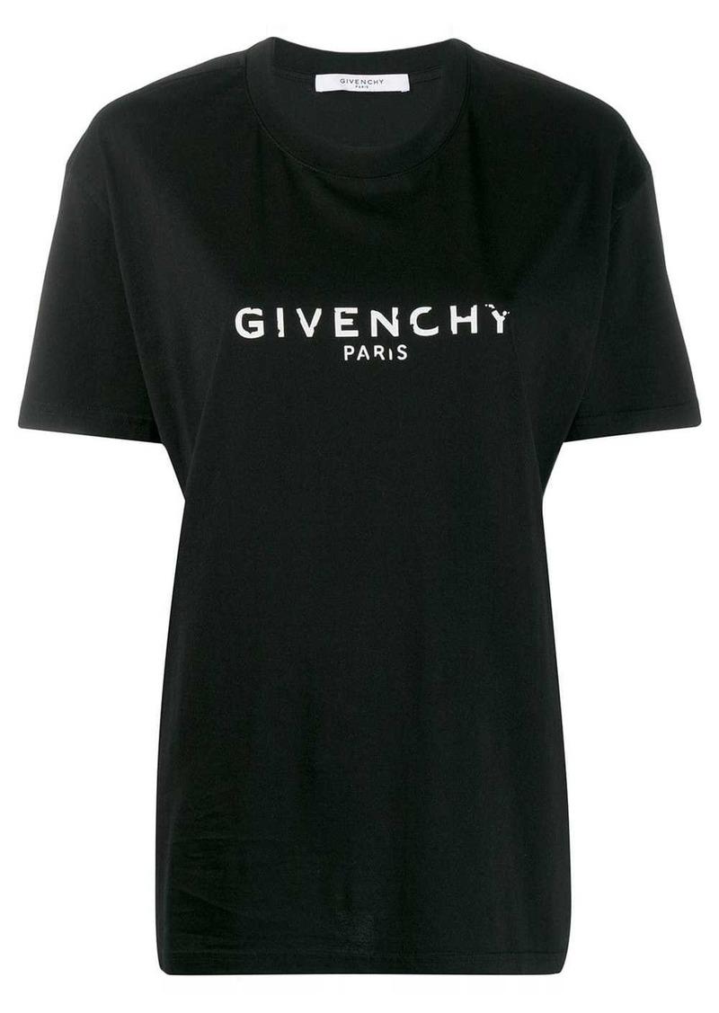Givenchy oversized logo print T-shirt