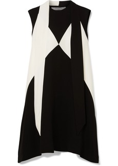 Givenchy Oversized Pussy-bow Two-tone Crepe Mini Dress